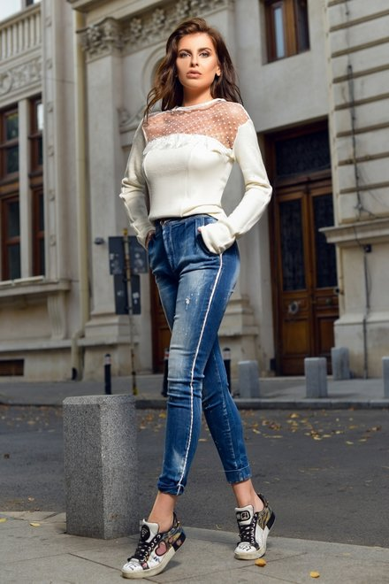 Bluza dama IT'S REAL OFF WHITE din colectia Foggi November Street