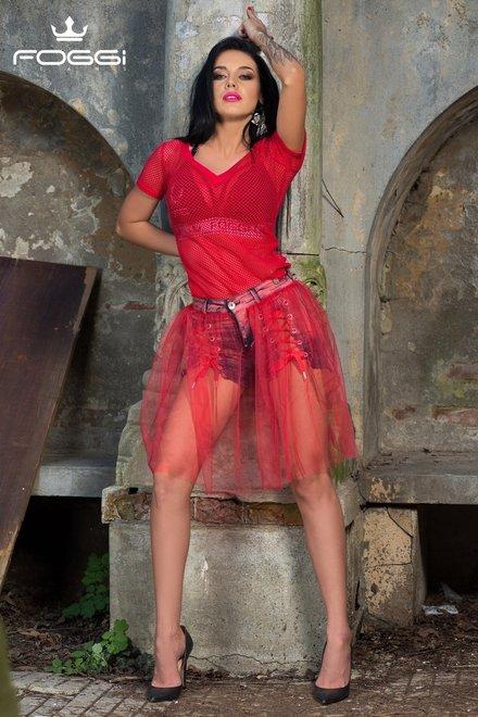 BLUZA DAMA OBSESSION RED TOP DIN COLECTIA FOGGI AROGANZZA