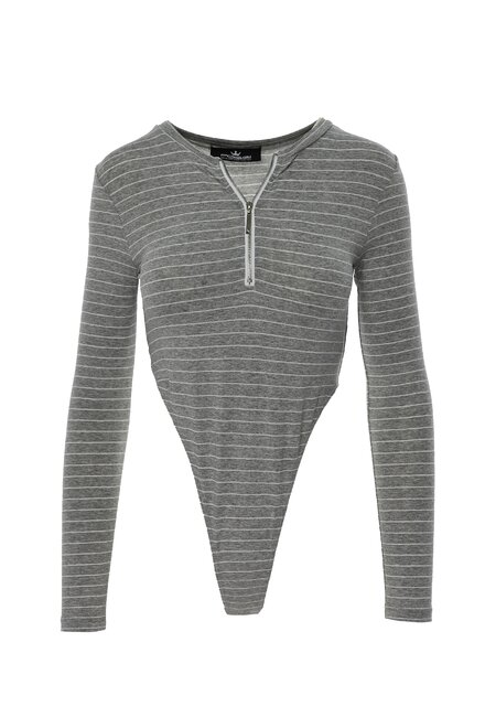 BODY DAMA GREY LINES CHRISTAL TOP CU FERMOAR