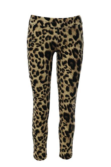 Colanti dama mulati Leopard Print din catifea