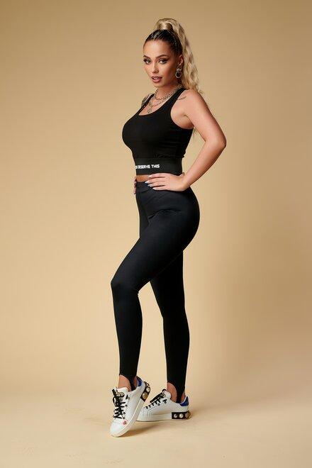 Colanti dama mulati Sexy Black cu elastic