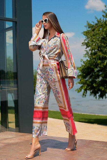 Compleu dama JAPAN IMPERIAL cu pantaloni drepti