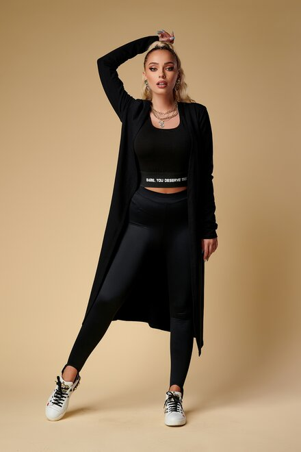 Jacheta dama bumbac BLACK COOL LADY tip cardigan