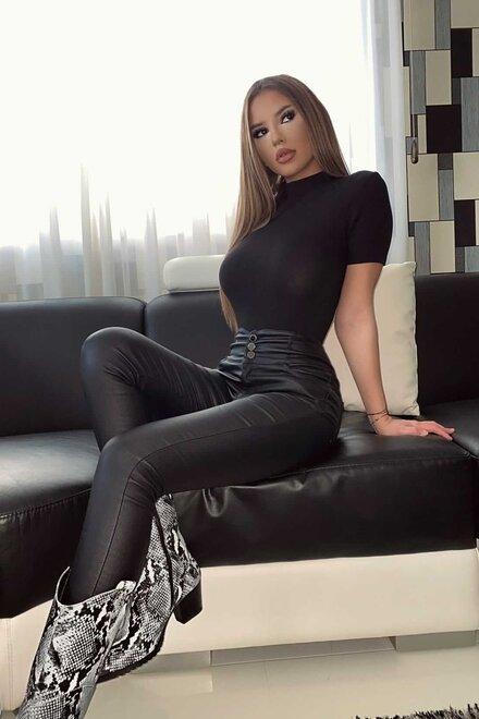 Maleta dama BLACK RIBB PASSION cu maneca scurta