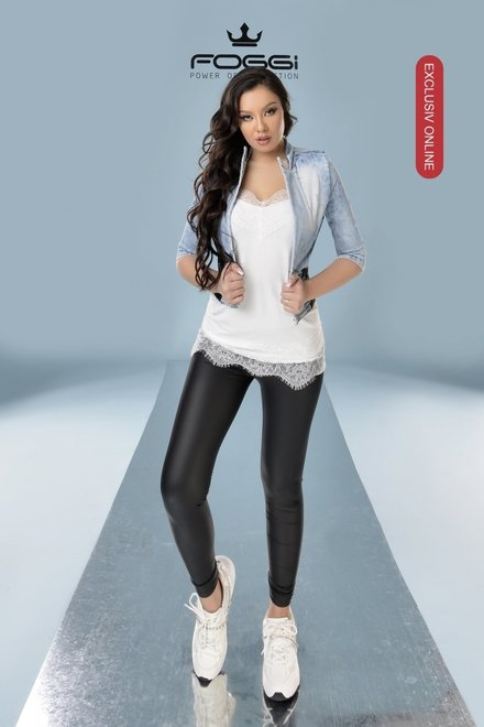 Pantaloni dama mulati Sexy Black tip colant