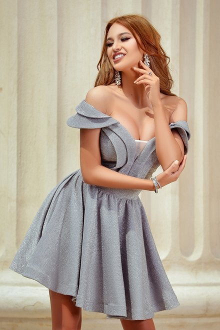 Rochie dama BE BEAUTYFUL GREY din colectia The One and Only
