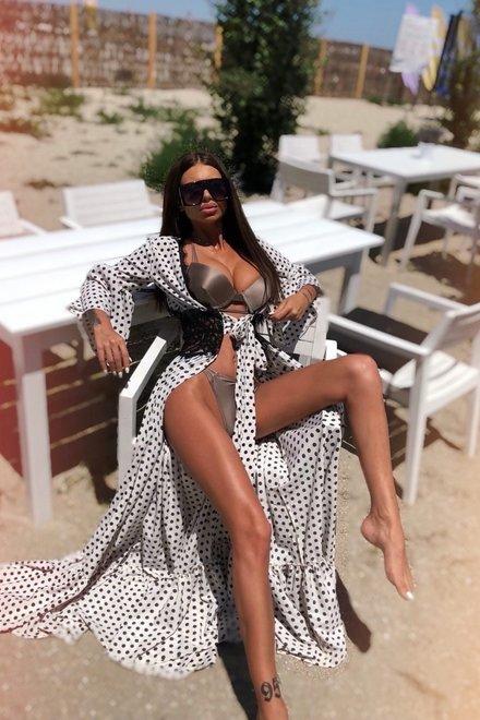 Rochie dama caftan DOTS BEACH DIVA vaporoasa si lejera