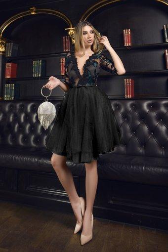 Rochie dama eleganta NIGHT DRESSY cu aplicatii din dantela