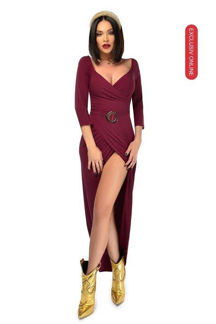 Rochie dama eleganta OUR OPTIONS cu accesoriu in talie