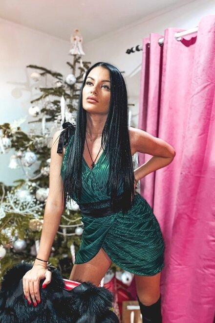 Rochie dama EMERALD din colectia Foggi Sufletul Petrecerii