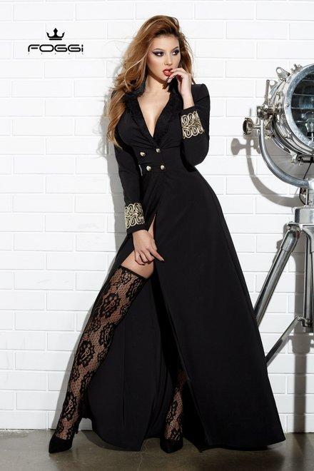 ROCHIE DAMA EMPORIUM DRESS BLACK DIN COLECTIA FOGGI DECEMBER GLAM