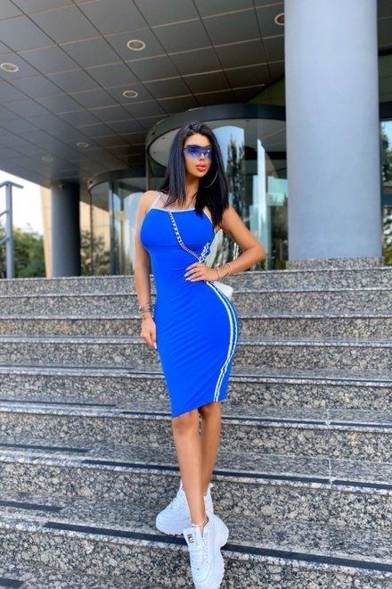 Rochie dama mulata FOREVER IN LOVE BLUE dreapta cu spatele gol