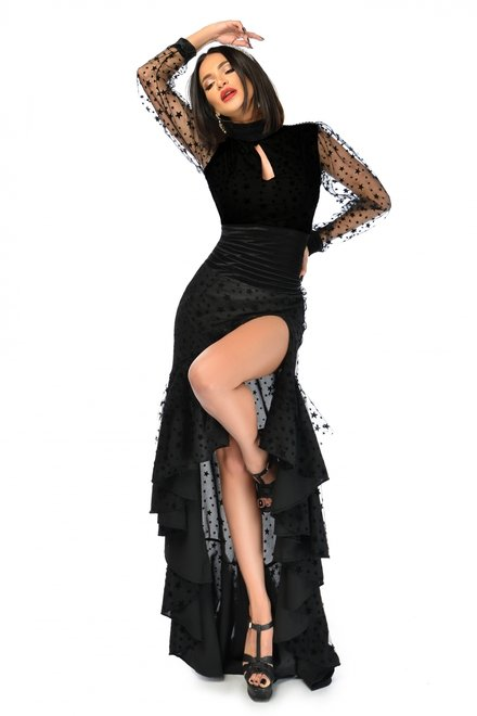 Rochie dama MY SIGNATURE STAR BLACK din colectia Foggi Sufletul Petrecerii