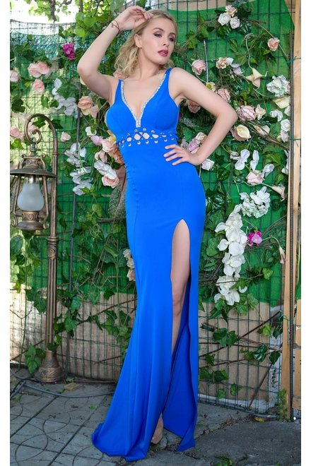 ROCHIE DE OCAZIE DAMA BE A QUEEN BLUE DRESS