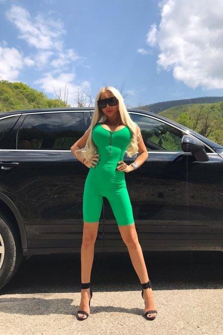 Salopeta dama scurta SEXY GREEN mulata