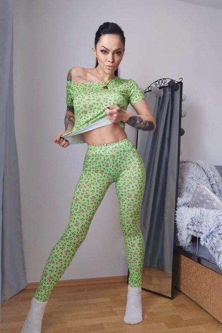Tinuta dama de casa GREEN FLORAL CASUAL DAYS mulata
