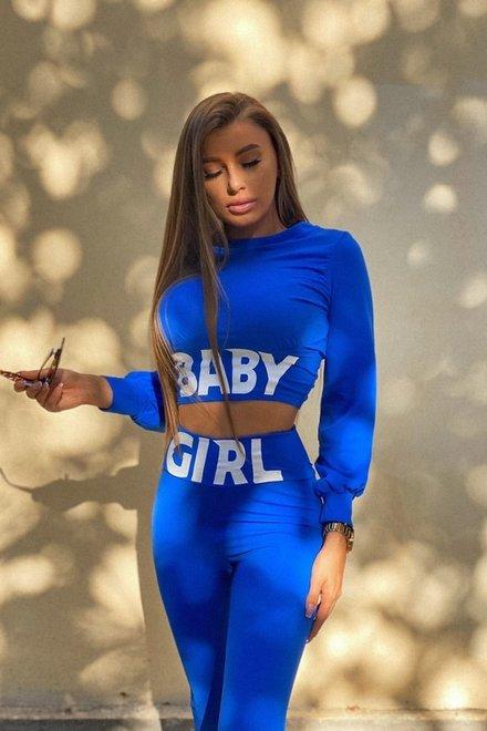 Trening dama BABY GIRL ELECTRIC BLUE mulat