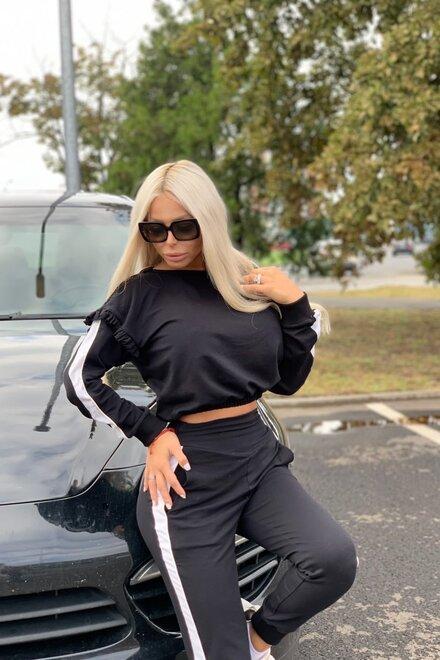 Trening dama lejer BLACK COOL DIVA cu spatele gol