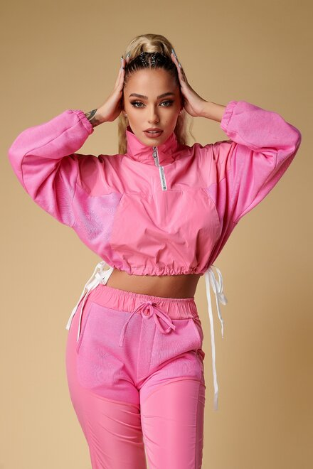 Trening dama PINK SHADES VIBES din jerse si fas