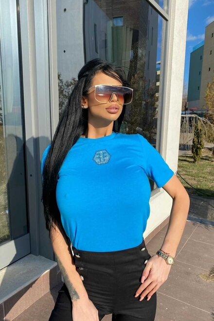 Tricou dama Turquoise FF cu maneca scurta