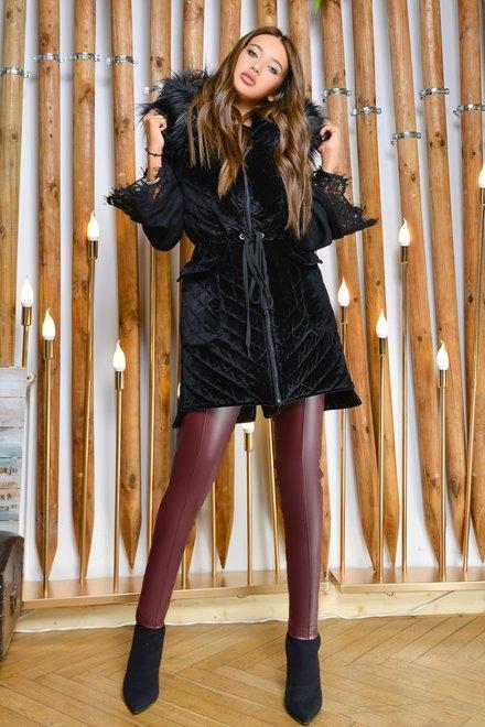 Vesta dama ABSOLUTE BLACK BABE din colectia Foggi Joyride