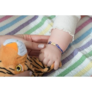 Bratara snur bebe si copil masinuta 16 mm personalizata gravura text Aur 14K