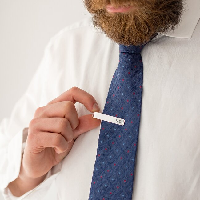 Ac cravata personalizat gravura initiale Argint 925