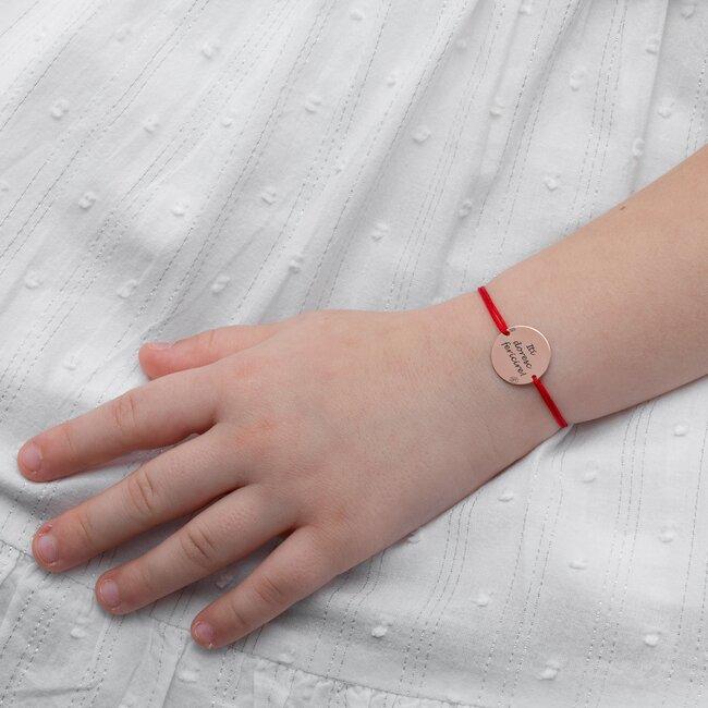 Bratara Aur roz 14K snur banut personalizat (15 mm)