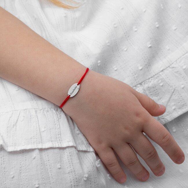 Bratara snur oval 15 mm personalizat gravura text Argint 925 Premium