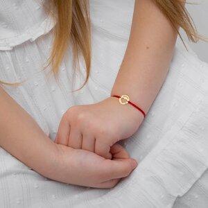 Bratara Aur 14K cu snur pentru fetite si adolescente banut inima 11 mm personalizat gravura text