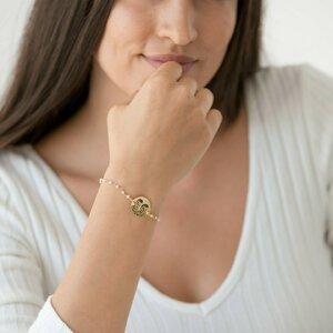 Bratara lant tip rozariu banut 17 mm personalizat gravura foto Argint 925 Premium (alb/ albastru deschis/ rosu)