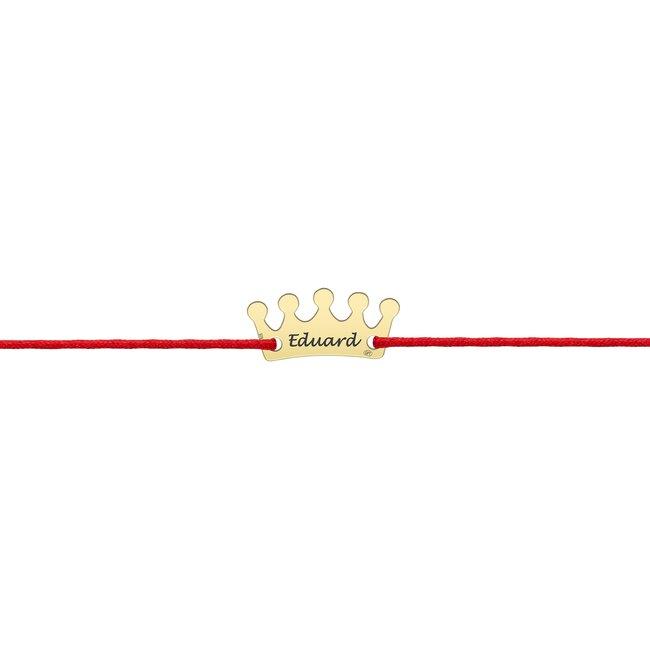 Bratara snur coroana 13 mm personalizata gravura text Argint 925 Premium