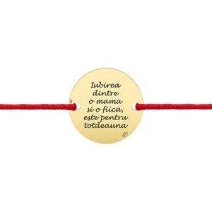 Bratara aur dama, snur si banut, personalizata (18 mm)