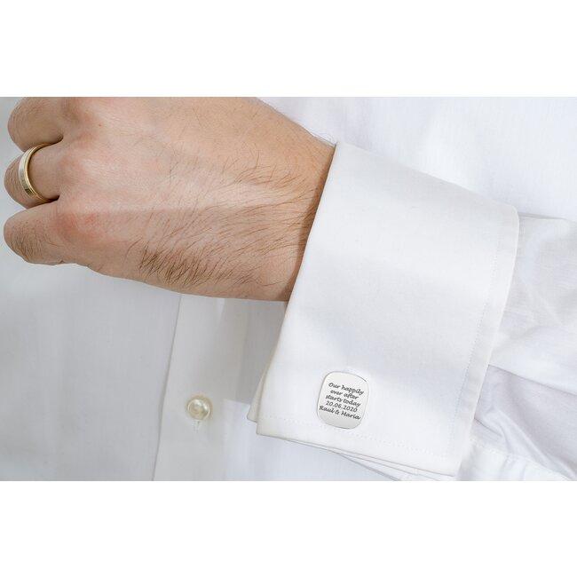 Butoni camasa rotunjiti 20 mm personalizati gravura text Argint 925