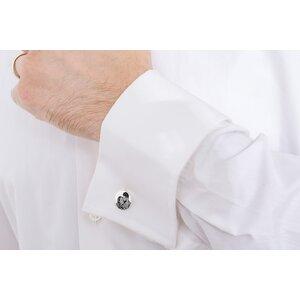 Butoni camasa rotunzi 15 mm personalizati gravura foto Argint 925