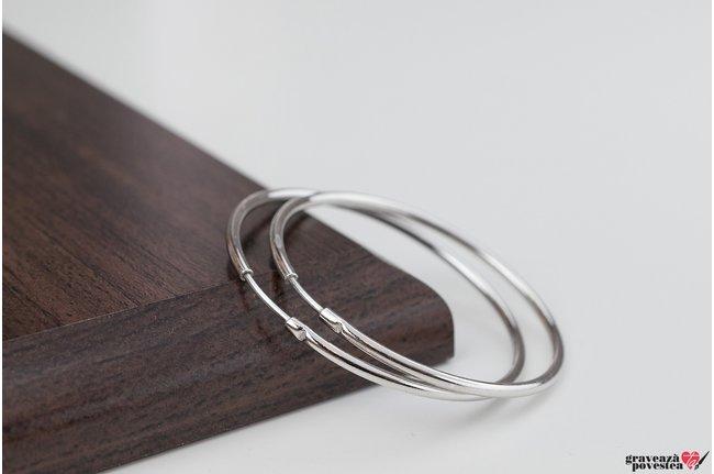 Cercei rotunzi creole medii 40 mm Argint 925 Premium