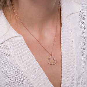 Colier Argint 925 forma inima personalizata (22 mm)
