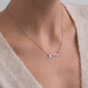Colier Argint 925 initiale si inima decupate