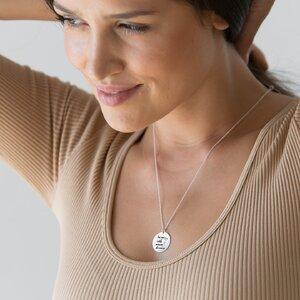 Colier Argint dama, banut 19 mm, personalizat