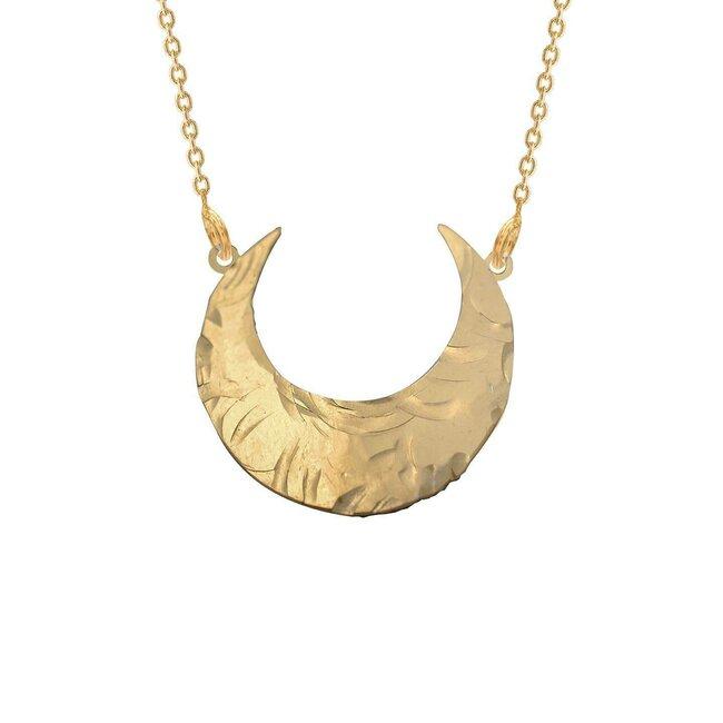 Colier argint aurit CRESCENT MOON