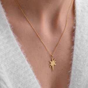 Colier argint NORTH STAR