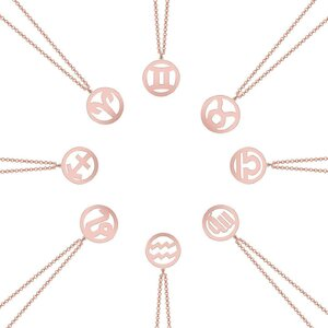 Colier argint zodiac MY SIGN