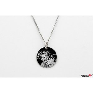 Colier Argint 925 banut 14.5 mm personalizat gravura cu poza