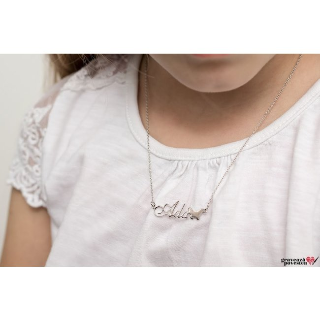 Colier Argint 925 pentru copii nume decupat (2-14 ani)