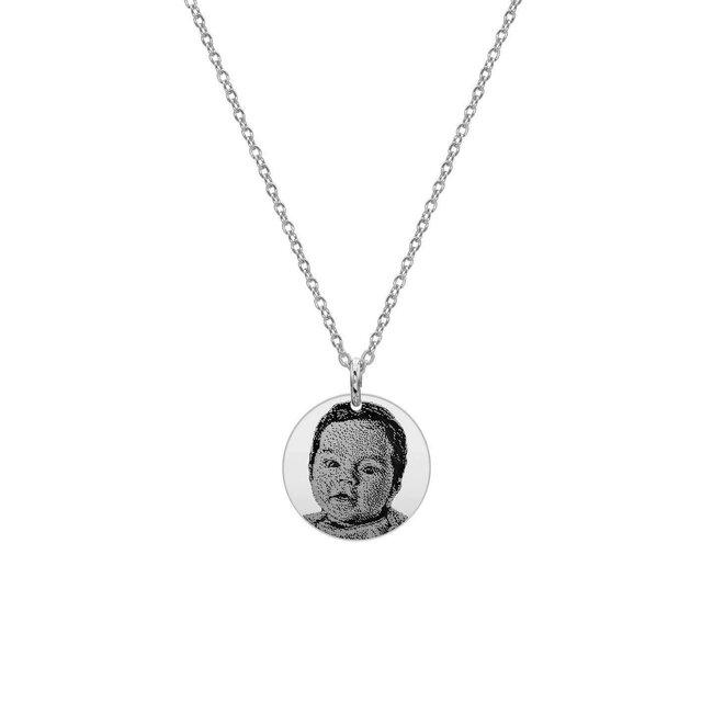 Colier Argint 925 banut 17 mm personalizat gravura foto