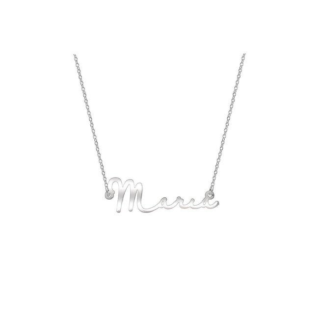 Colier nume decupat - semnatura Argint 925 rodiat