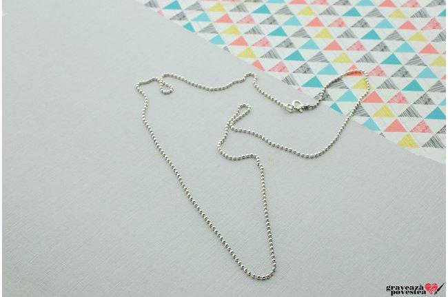 Lant supliment Beads Argint 925 rodiat (50-55-60 cm)