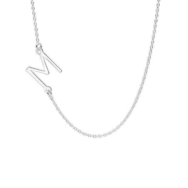 Lantisor Argint dama, initiala decupata