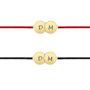 Bratari aur cuplu banuti personalizati cu snur (16 mm)