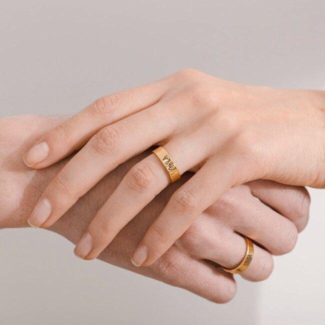 Inele cuplu argint tip verighete personalizate (5 mm)